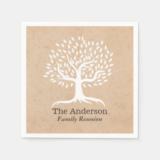 Vintage Tree Family Reunion Disposable Serviettes