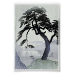 Vintage Tree Japanese Woodblock Art Ukiyo-E Poster