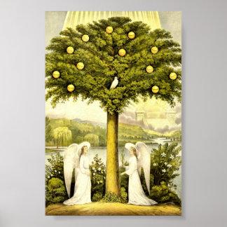 Vintage Tree of Life Christian Illustration 1892 Poster