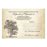 vintage tree old rsvp for wedding design personalized announcement
