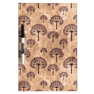 Vintage Tree Pattern Dry Erase Board