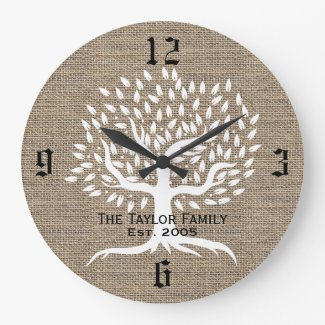 Vintage Tree Rustic Clock