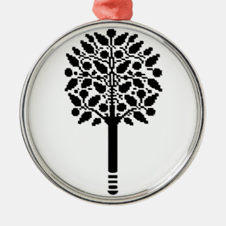 Vintage Tree Silver-Colored Round Decoration