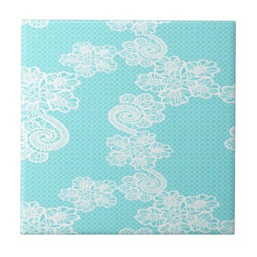 Vintage trendy romantic lace ceramic tiles