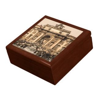 Vintage Trevi Fountain, Rome, Lazio, Italy Large Square Gift Box