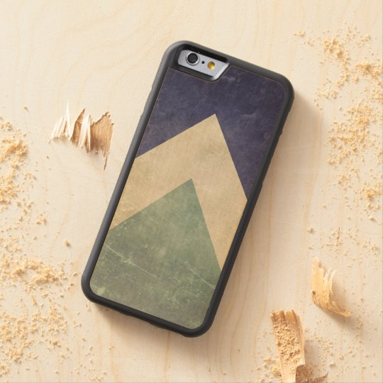 Vintage triangle pattern maple iPhone 6 bumper case