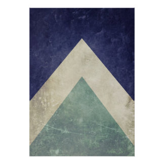 Vintage triangle pattern poster