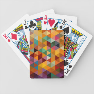 Vintage Triangles Pattern Background. Bicycle Playing Cards