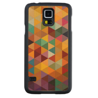 Vintage Triangles Pattern Background. Carved Maple Galaxy S5 Case