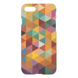 Vintage Triangles Pattern Background. iPhone 8/7 Case