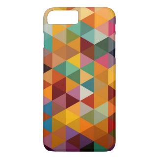 Vintage Triangles Pattern Background. iPhone 8 Plus/7 Plus Case