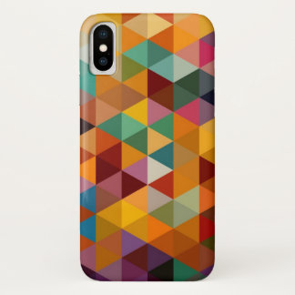Vintage Triangles Pattern Background. iPhone X Case