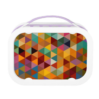 Vintage Triangles Pattern Background. Lunch Box