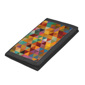 Vintage Triangles Pattern Background. Tri-fold Wallet