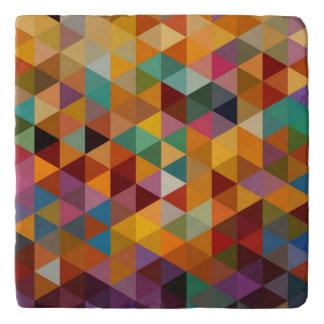 Vintage Triangles Pattern Background. Trivet