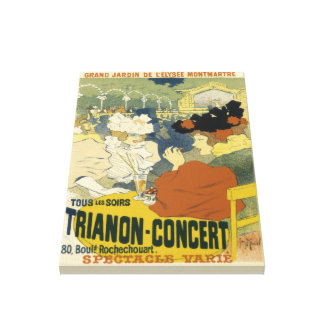 Vintage Trianon-Concert Advertisement Canvas Print
