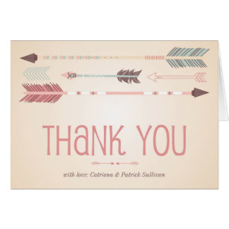 Vintage Tribal Arrows Thank You Card