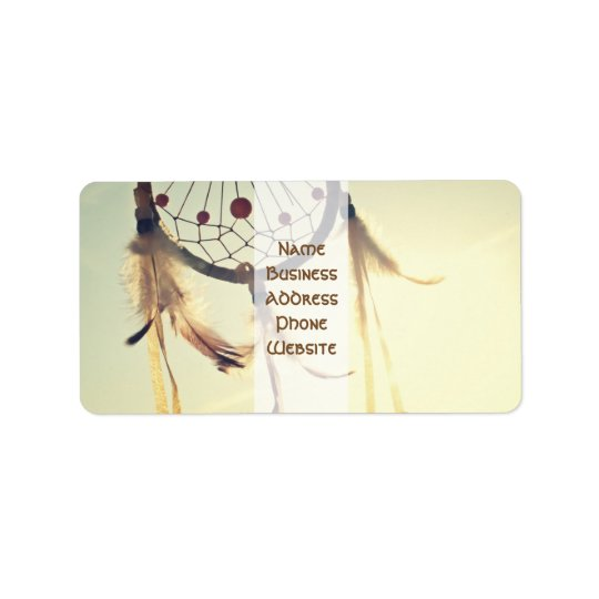 Vintage Tribal Hipster Dream Catcher Ornament Address Label