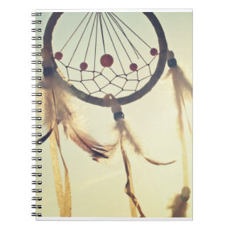 Vintage Tribal Hipster Dream Catcher Ornament Notebook