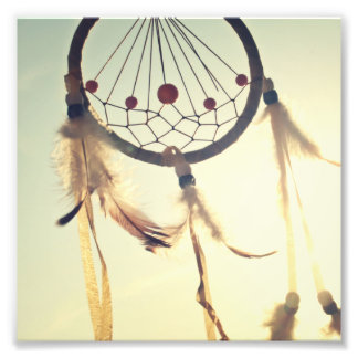 Vintage Tribal Hipster Dream Catcher Ornament Photo Print