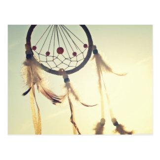 Vintage Tribal Hipster Dream Catcher Ornament Postcard