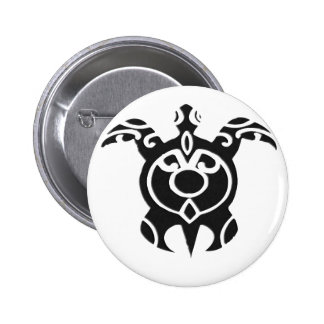 Vintage Tribal Turtle Tattoo Design 6 Cm Round Badge