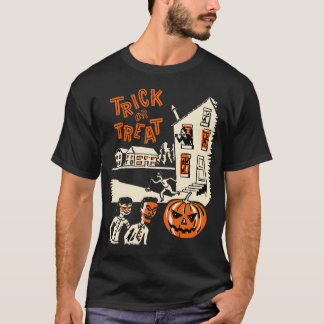 Vintage Trick Or Treat 1960s Halloween Shirt