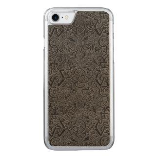 Vintage Triskle Celtic Trinity Knot Charcoal Steel Carved iPhone 8/7 Case