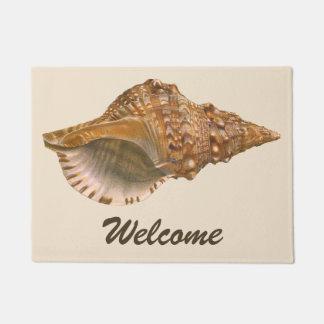 Vintage Triton Seashell Shell, Marine Ocean Animal Doormat