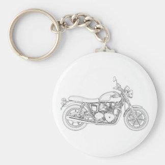 Vintage Triumph  Basic Round Button Key Ring