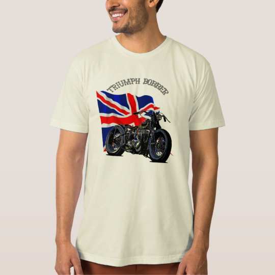 Vintage Triumph Bobber Motorbike T-Shirt