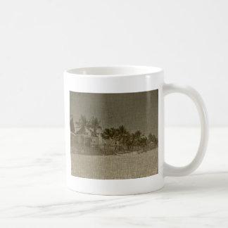 Vintage Tropical Beach Huts Mugs