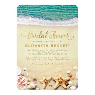 Vintage Tropical Beach Starfish Bridal Shower Card