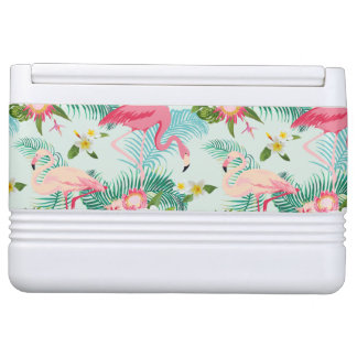 Vintage Tropical Flowers And Birds Igloo Cooler