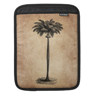 Vintage Tropical Island Palm Tree Template Blank iPad Sleeve