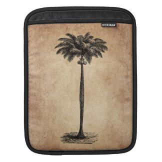 Vintage Tropical Island Palm TreeTemplate Blank iPad Sleeve