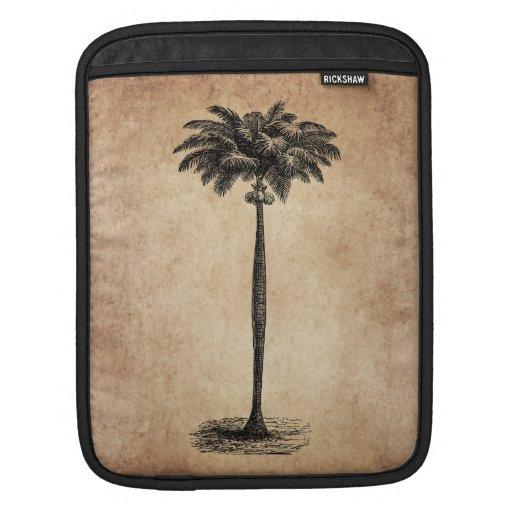 Vintage Tropical Island Palm TreeTemplate Blank iPad Sleeves