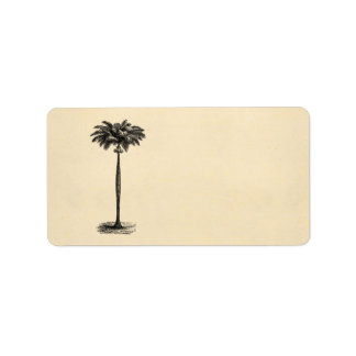 Vintage Tropical Island Palm Tree Template Blank Label