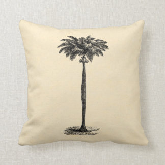 Vintage Tropical Island Palm Tree Template Blank Throw Cushion