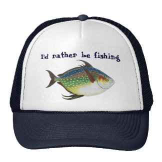 Vintage Tropical Opah Fish, I'd Rather be Fishing Cap