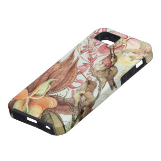 Vintage Tropical Orchids, Flowers and Hummingbirds Tough iPhone 5 Case