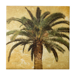 Vintage Tropical Palm Tree Tile