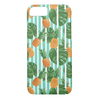 Vintage Tropical Pineapple Vector Seamless Pattern iPhone 8/7 Case