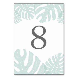 Vintage Tropics Table Number Card Table Card