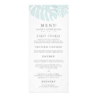 Vintage Tropics Wedding Menu Card
