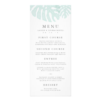 Vintage Tropics Wedding Menu Card Rack Card Template