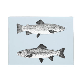 Vintage Trout - Freshwater Fishing Doormat