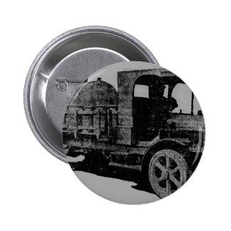 vintage truck antique look cool steampunk art 6 cm round badge