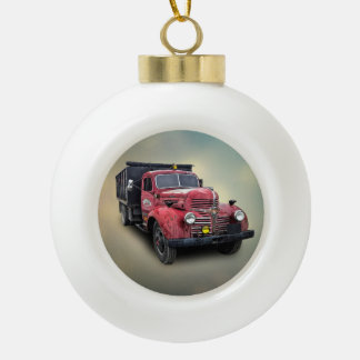 VINTAGE TRUCK CERAMIC BALL DECORATION