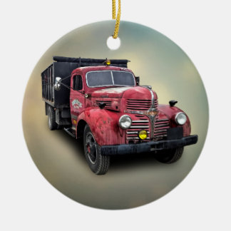 VINTAGE TRUCK CHRISTMAS ORNAMENT